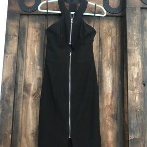 Bebe cut out midi zipper zip dress 2